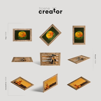 Picture frames variety of angles halloween scene creator