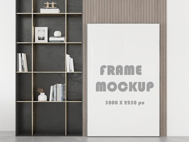Макет картины перед стеной, обставленной мебелью
