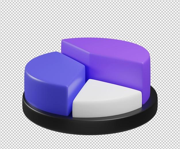 Круговая диаграмма 3d иллюстрации