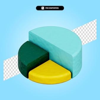 Круговая диаграмма 3d визуализации изолированных иллюстрация