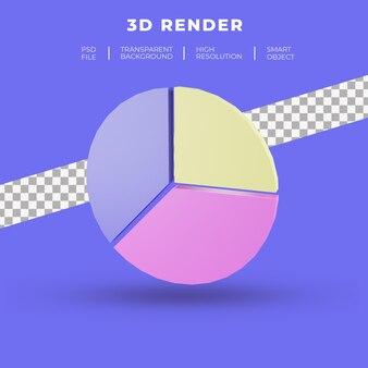 Набор 3d-рендеринга круговой диаграммы