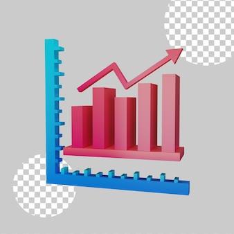 Pie chart concept 3d illustration