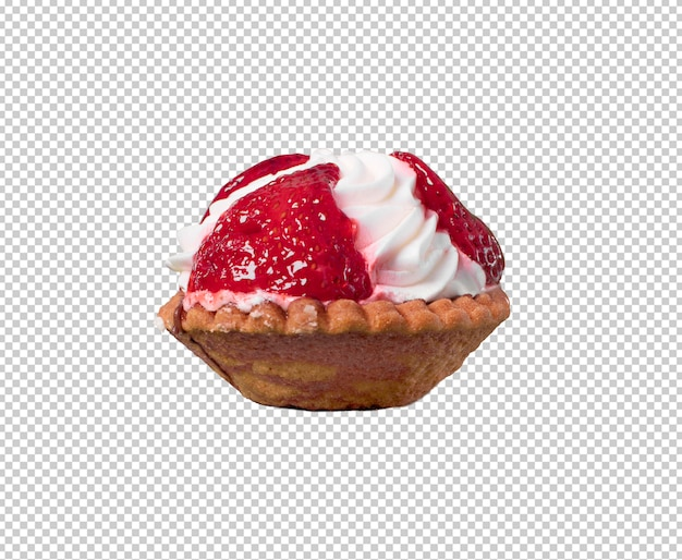 Piece of cake isolated against white background