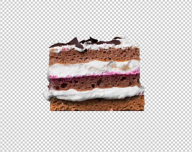 白い背景に孤立したケーキの作品