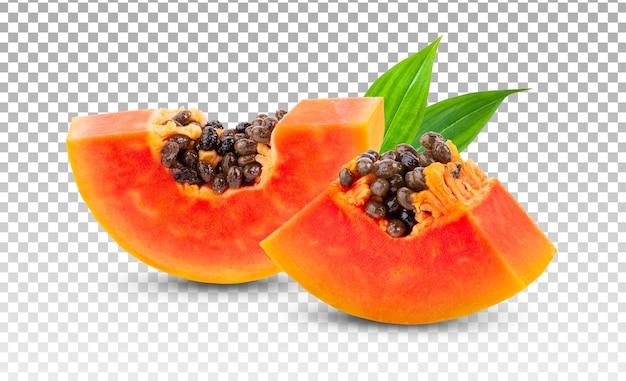 Кусок спелых плодов папайи