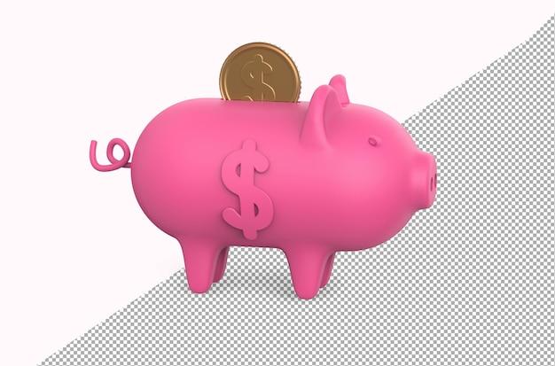 Pig bank moneybox