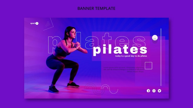 Pilates training banner template