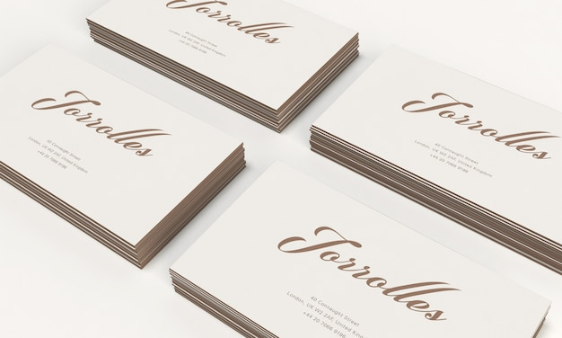 Pile of business cards mockup