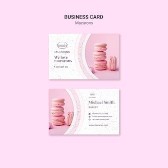 Куча макаронс шаблон визитной карточки