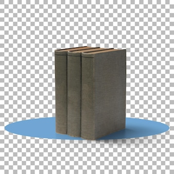A pile old books transparent background
