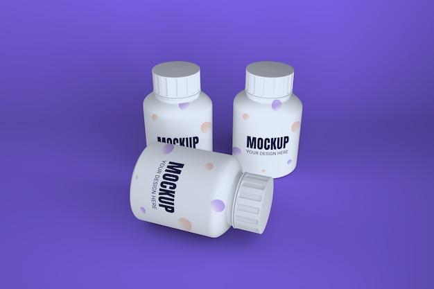 Макет медицины бутылки таблетки изолированные