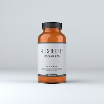 Pill bottle medicine mockup