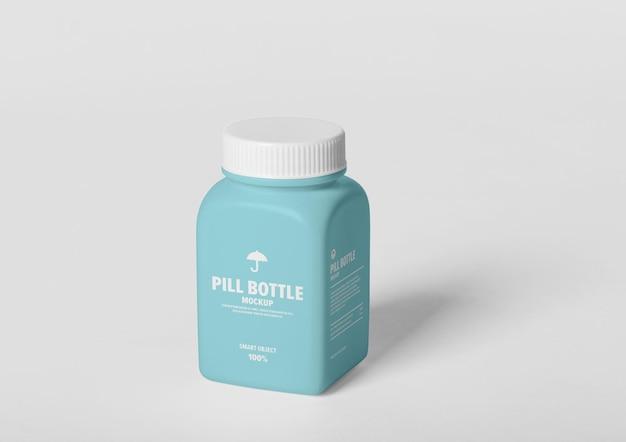 Макет бутылки с таблетками Premium Psd