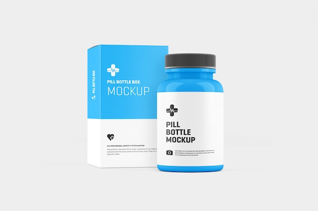 Pill bottle mockup