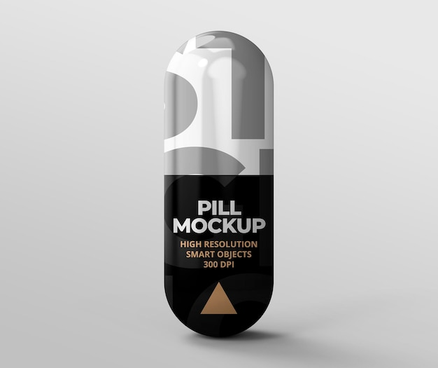 Pill mockup for branding and advertising presentations