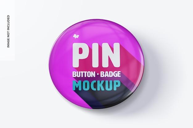 Pin button badge mockup