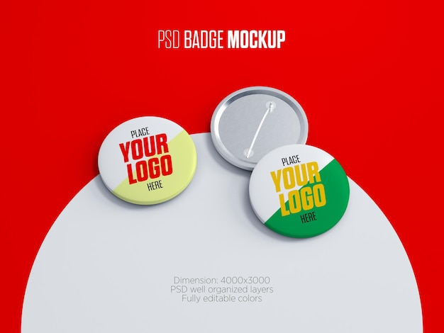 Pin button badges mockup