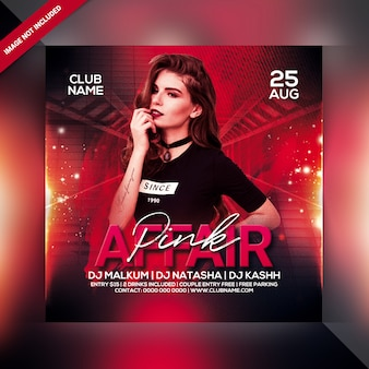 Pink affair party flyer