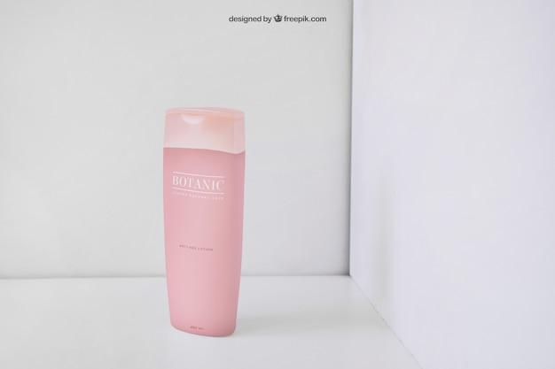 핑크 미용 제품 포장 모형