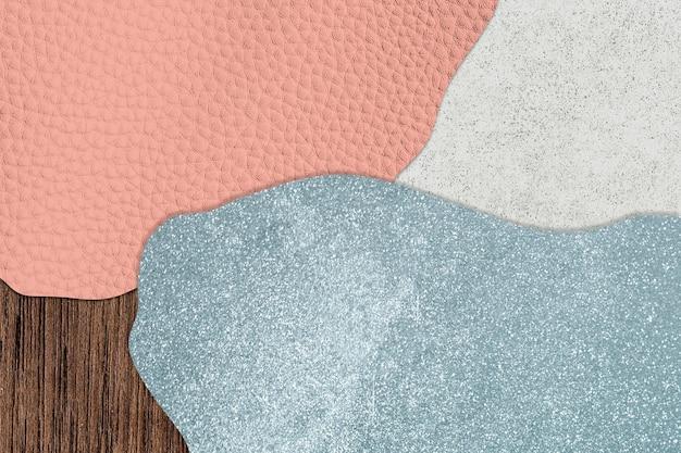 Pink and blue collage patterned background illustration