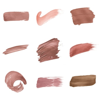 Pink brush stroke background collection