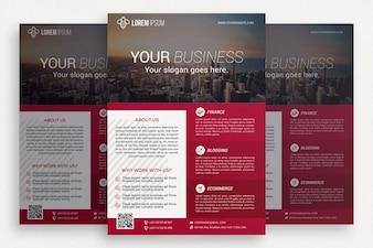 Pink business brochure