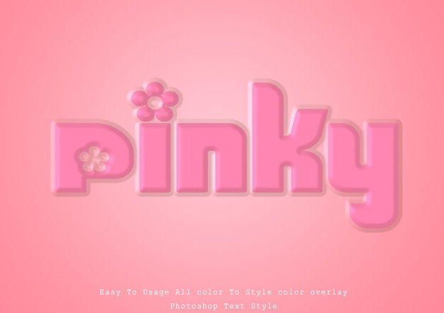 Pink collor text style