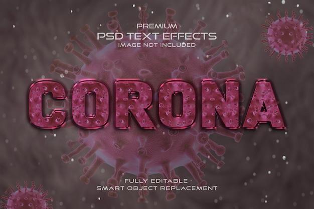 Pink corona virus text style effect