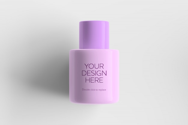 Pink cosmetic container mockup
