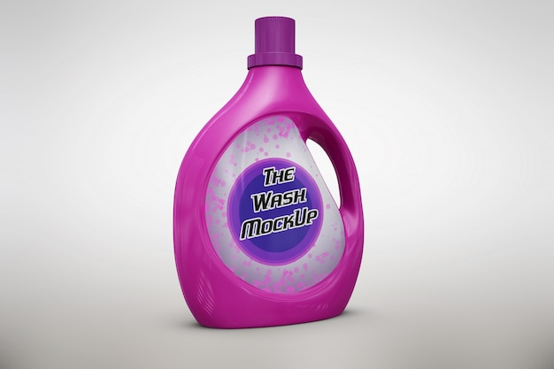Pink detergent packaging mock up