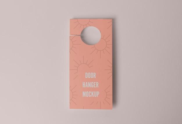 Pink door hanger for privacy