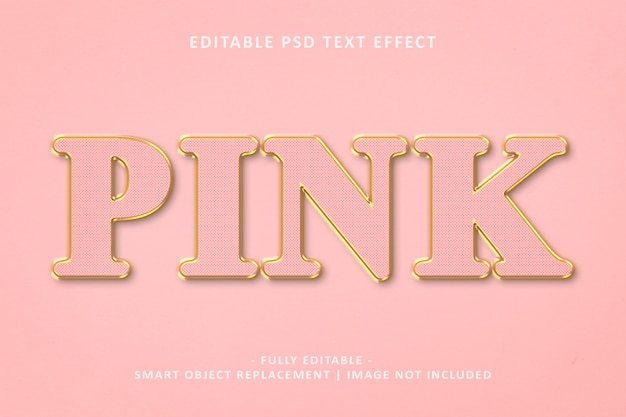 Pink gold text effect