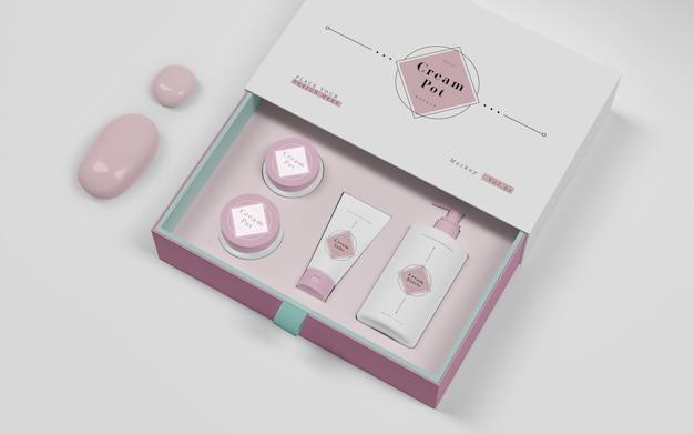 화장품 핑크 포장