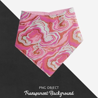 Pink patterned bandana for baby or children's on transparent background