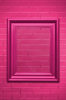 Макет розовой фоторамки