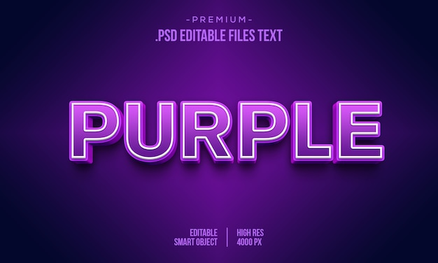 Pink purple 3d text style effect