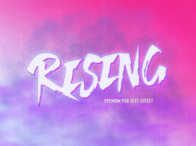 Pink and purple brush style text effect