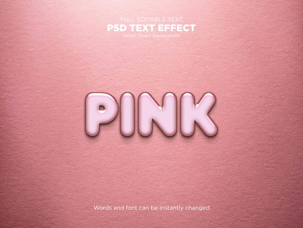 Pink text effect mockup