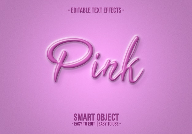 Pink-text-style-effect