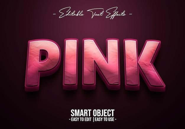 Розово-text-style-эффект