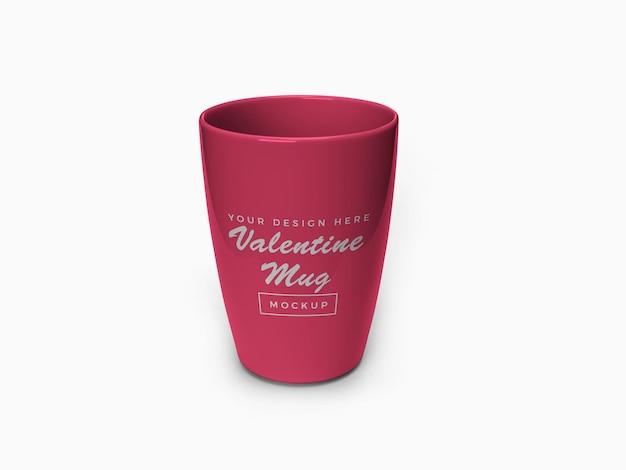 Розовый валентина кружка дизайн макета изолированные