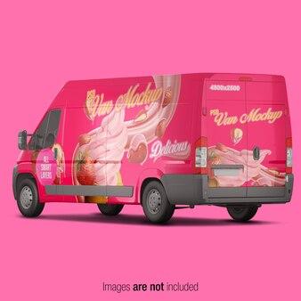 Pink van mockup