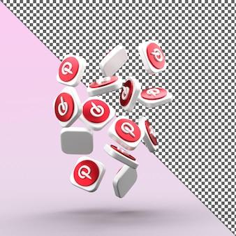 Pinterest 3d 아이콘 디자인 절연