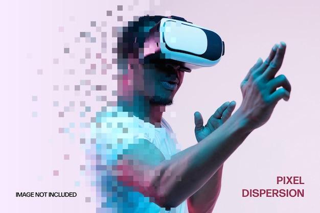 Шаблон фотоэффекта дисперсии пикселей