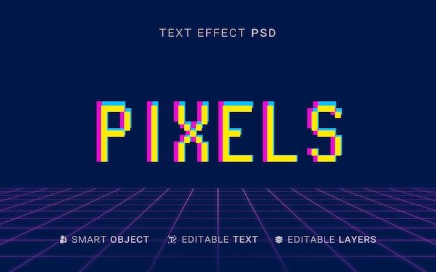 Pixel effetto testo design