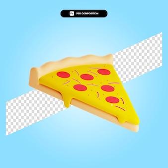 分離されたピザ3dレンダリングイラスト