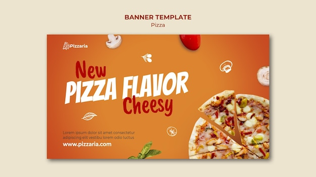 Pizza banner template concept