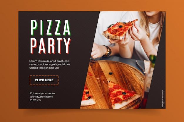 Modello della bandiera di pizza