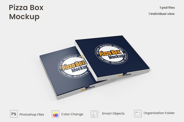 ピザボックスは、孤立したプレミアムpsdをモックアップします