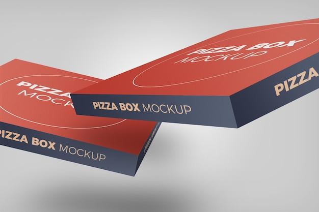 Макет коробки пиццы изолированные